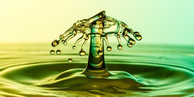 A droplet of liquid